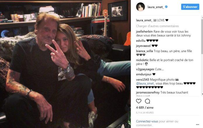 actu johnny hallyday laura smet tendres retrouvailles sur instagram photo celebrites. Black Bedroom Furniture Sets. Home Design Ideas