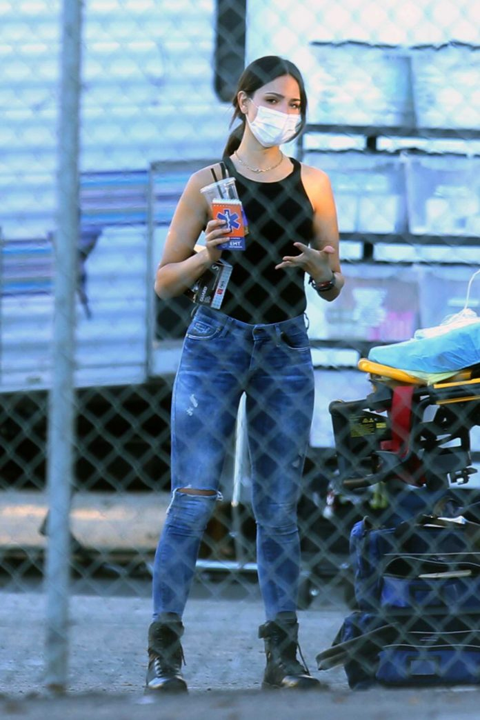 Eiza Gonzalez spotted on set of the Michael Bay's upcoming movie 'Ambulance' in Los Angeles