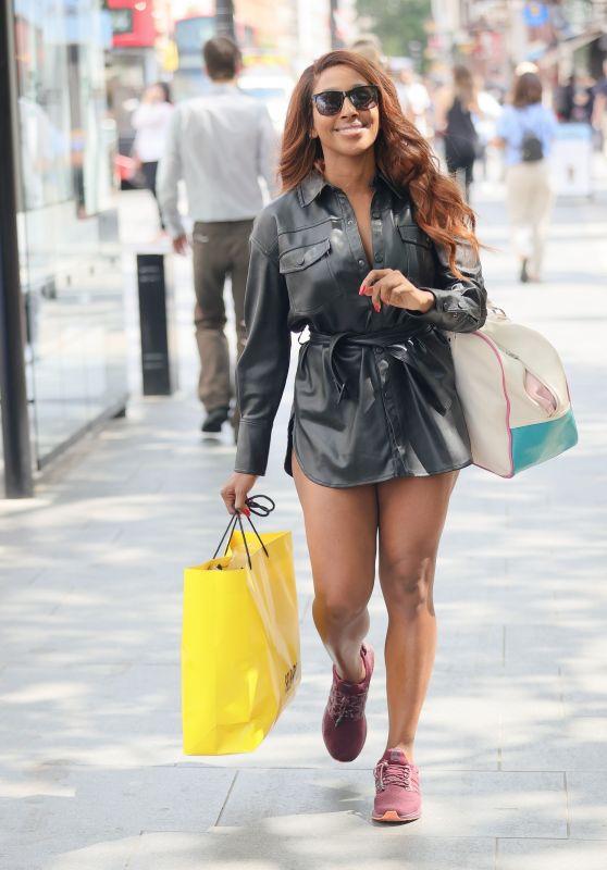 Alexandra Burke in Leather - London 06/16/2021