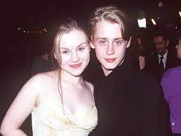 ماكولاي كولكين مع زوجته السابقة راشيل